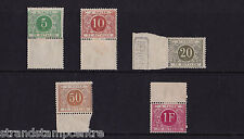 Belgium - Postage Dues - 1895 Set to 1f - Mounted Mint - SG D96-100