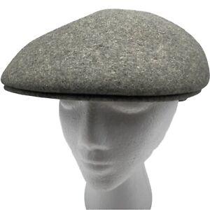 Royal Ascot Gray XL 7 7 1/4 Mens Wool Cabbie Newsboy Driving Hat Cap Vintage