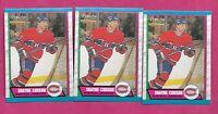 3 X 1989-90 OPC # 248 CANADIENS SHAYNE CORSON  ROOKIE  NRMT-MT CARD (INV# C0575)