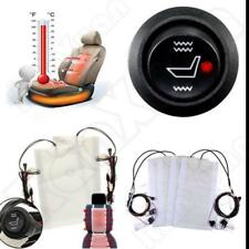 12V 4pcs Cars Carbon Fiber Heated Cushion Seat Heater Pad Hi-Off-Lo Switch Kits