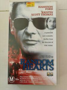 Random Hearts - Harrison Ford & Kristen Scott-Thomas VHS Thriller Free Postage