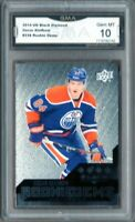 GMA 10 Gem Mint OSCAR KLEFBOM 2014/15 UD Black Diamond ROOKIE Card OILERS!