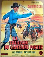 Affiche cinéma western LA TRAHISON DU CAPITAINE PORTER - 120 x 160 cm