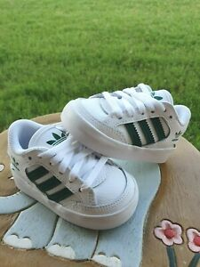 Adidas Green/White Leather BRAND NEW Toddler 4C