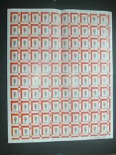 Gibraltar 1977 Flowers Orchid MNH Full Complete Sheet #S33