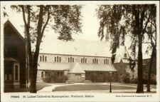 Portland ME St. Lukes Church c1910 Real Photo Postcard