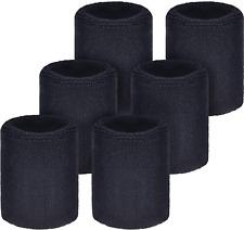 Willbond 6 Pack Sports Wristbands Absorbent Sweatbands for Football Basketball,