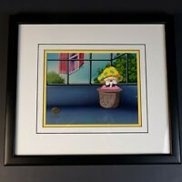 """Warner Bros ANIMANIACS """"In the garden of Mindy"""" Genuine Hand Painted Cel w/ COA"""