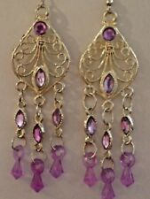 Style Drop Earrings £3.99 Nwt Pretty Goldtone Filigree Authentic Indian