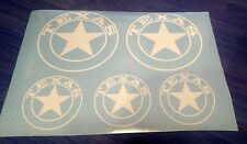 Texas State custom vinyl decals stickers, set of 5, many colors available
