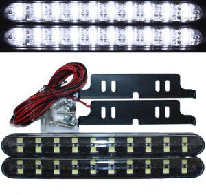 2x BLACK EDITION LED Tagfahrleuchten 20SMD mit Steuergerät E4 dimmbar 6000K weiß
