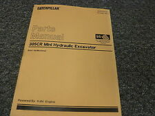 Caterpillar Cat 305CR Mini Hydraulic Excavator Parts Catalog Manual Ser# DSA1-up
