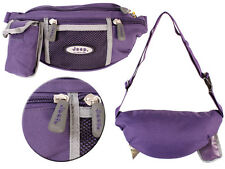Mens Purple Canvas Waist Bag By Jeep With Phone Pouch New And Sealed