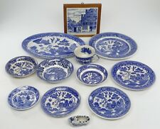 LOT OF 12 BLUE WILLOW PATTERN~Serving Dish, Platter, Saucer Cup Bowl, Dutch Shoe