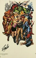 Avengers 1 SDCC Campbell Litho Signed by Stan Lee - Hologram COA Better than CGC