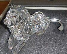 CRISTALLO SWAROVSKI LEONE SDRAIATO SCS 1995 LION 185410 NUOVO CONC. MIB RETIRED