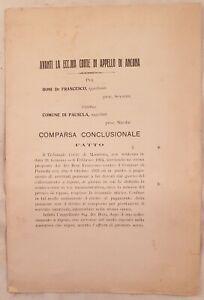 SENTENZA TRIBUNALE ANCONA FRANCESCO BONI COMUNE PAUSULA CORRIDONIA MACERATA 1924