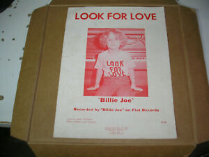 Billie Joe Armstrong - Look For Love sheet music Fiat Records rare Green Day