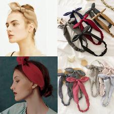Hairband Rabbit Ear Bow Knotted Headband Women Girl Headwrap Hair Accessories