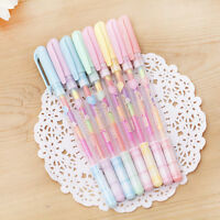6 Pcs/lot 6 Colors in 1 Candy Colors Gel Pens Ink Chalk Pen Office Student Gifts