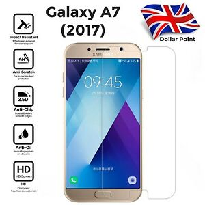 100% Genuine Tempered Glass Film Screen Protector For Samsung Galaxy A7 2017