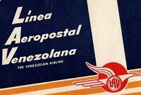 1940's-50's Linea Aeropostal Venezolana Luggage Label Vintage Original E32