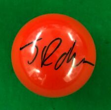 JIMMY ROBERTSON HAND SIGNED RED SNOOKER BALL PROOF.