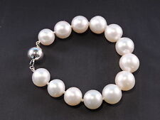 South Sea Cultured Pearls Bracelet 13mm 14ct Gold Clasp