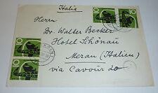 Köln Brief 1959 Mehrfachfrankatur Hotel Schönau Meran Südtirol Giraffe Zoo