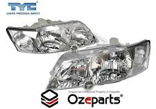 HeadLights Pair Left+Right LH+RH LHS+RHS Lights For Holden Commodore '02-'03 VY