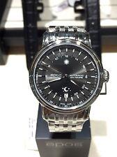 NEW EPOS Emotion Mechanical 24 hour black Dial date Swiss Watch 3390 ETA 2892-A2
