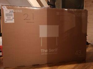 "Samsung The Serif QE43LS01T 43"" (4K) QLED Smart TV - Cloud White"