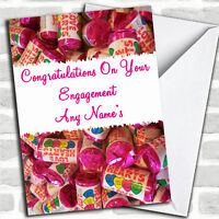 Love Heart Sweets Personalised Engagement Card