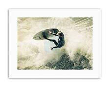 SURFING SURF SURFER SPRAY WAVE OCEAN SEA Picture Sport Canvas art Prints