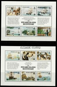 PITCAIRN ISLANDS- 1989 BICENTENARY ISSUES  SG 335-MS347 MOUNTED MINT SETS & MS