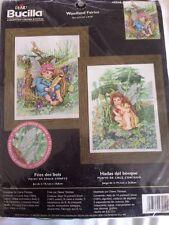 RARE Woodland Fairies Counted Cross Stitch KIT NIP Plaid Bucilla Sealed