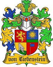 ADELSTITEL = GRAF von LIEBENSTEIN =  Fürst, Herzog Freiherr, Baron, Urkunde