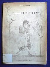 Italo Zaina - Luoghi e città - La scuola editrice 1951 - Disegni città