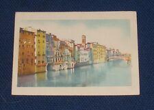 Italy - Firenze - L' Arno e Case di S. Jacopo - Old Postcard