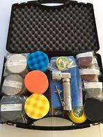 Mini Druckluft exzenterschleifer 75 - 50mm smart repair Set Felgen Scheinwerfer