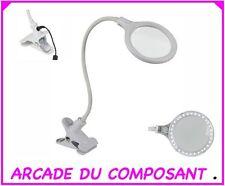 LAMPE LOUPE LED SUR PINCE 5 DIOPTRES 4W - INSTITUT ESTHETIQUE ref 65-0763 1,2Kg