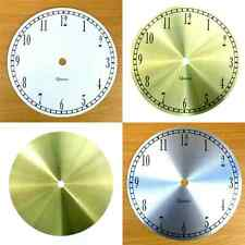 New Quartz Aluminium Clock Dials Faces - Silver Gold White - Craft Clock Making