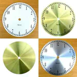 New Quartz Aluminium Clock Dials Faces - Silver Gold White - Craft Clock Making