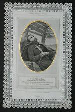 Image pieuse dentelle canivet holy card lace SaintFrançois-Xavier Fin XIXème