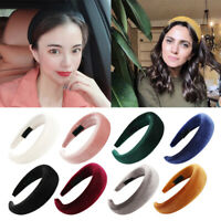 Women's Padded Velvet Headband Wide Sponge Hairband Head Band Hair Accessories