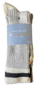 4 Pair Gold Toe Men's Casual Traveler Socks