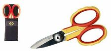 CK Stainless Electricians Scissors/Cable Shears + Pouch