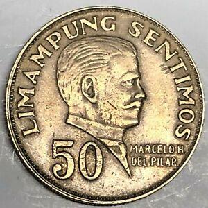 # C7008    PHILIPPINES    COIN,    50  SENTIMOS   1972