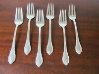 1847 Rogers Bros IS REMEMBRANCE Set of 6 Salad Forks Silverplate Flatware Lot C