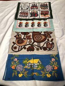 Vintage Irish Linen Tea Towel Collection